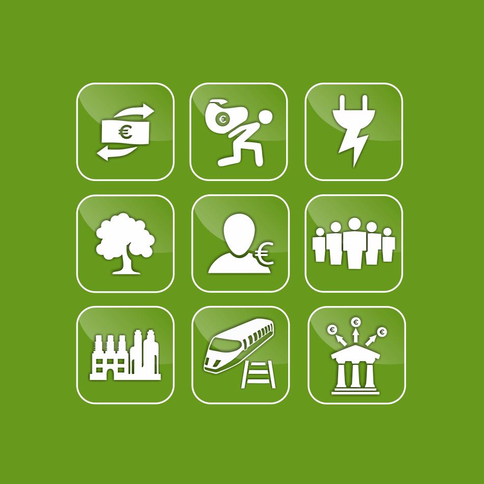 Balanzas Extremadura iconografia verde