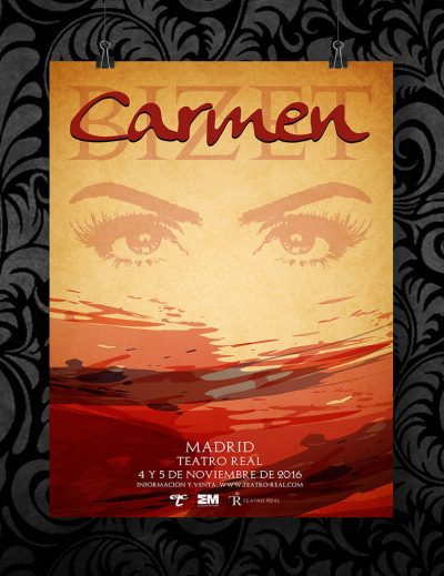 Cartel Carmen de Bizet